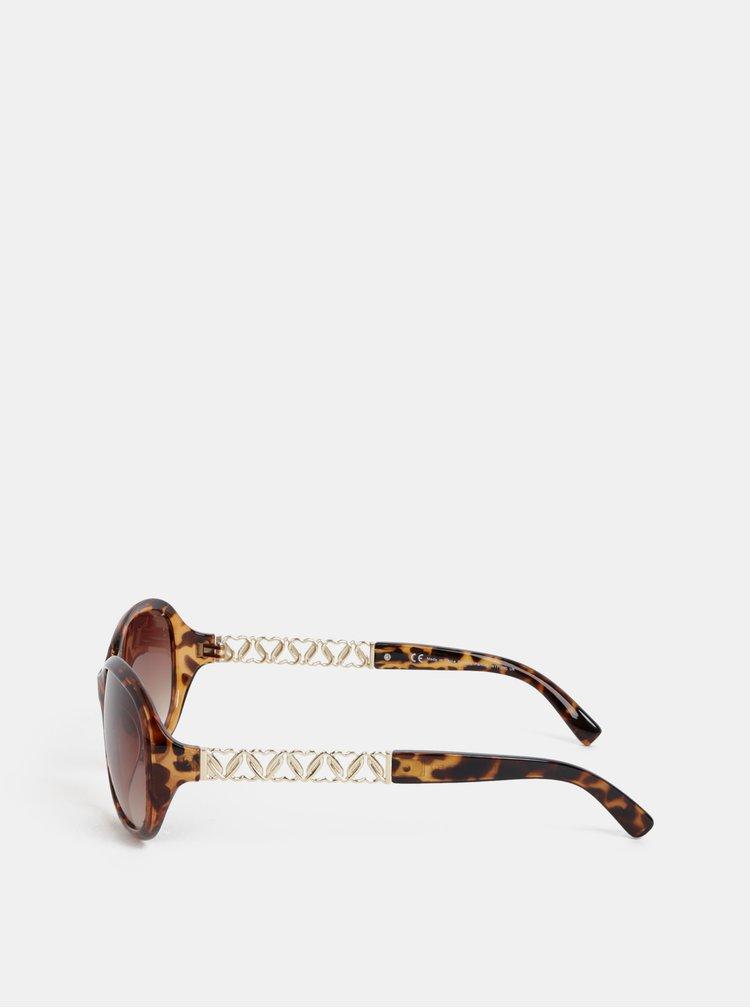 Hnědé sluneční brýle Dorothy Perkins