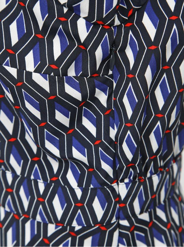 Tmavomodré vzorované košeľové šaty Dorothy Perkins