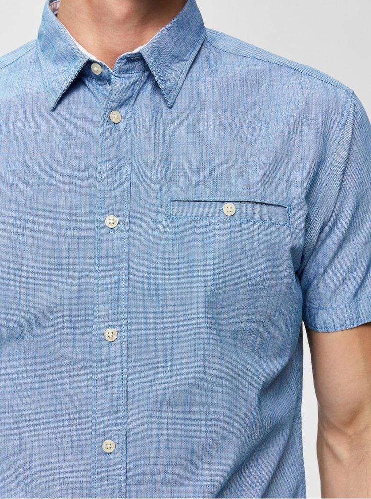 Svetlomodrá slim fit košeľa s vreckom Selected Homme Bobby