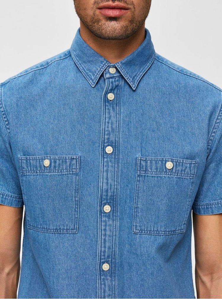 Tricouri cu maneca scurta pentru barbati Selected Homme - albastru