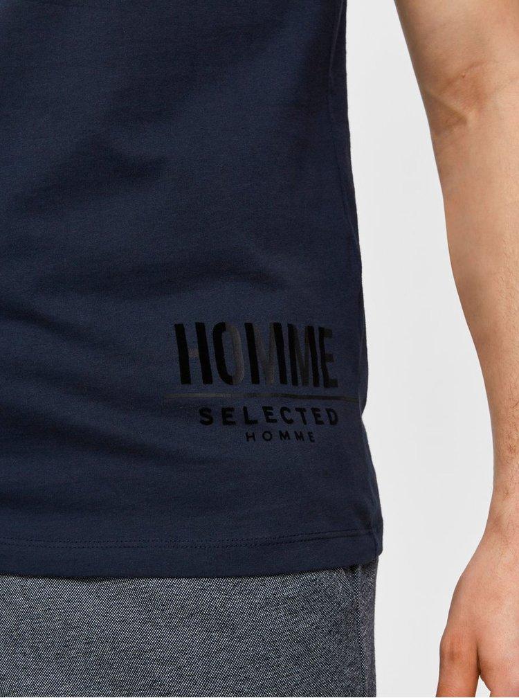 Tmavě modré tričko Selected Homme Place