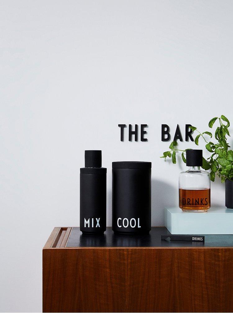 Ceai, cafea si vin Design Letters - negru