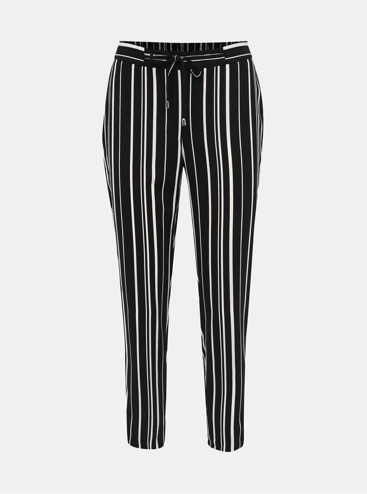 Černé dámské pruhované kalhoty M&Co Petite