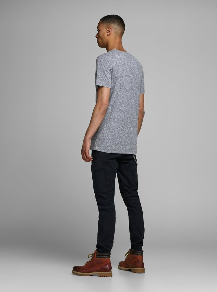 Modré tričko s potiskem Jack & Jones Fabian