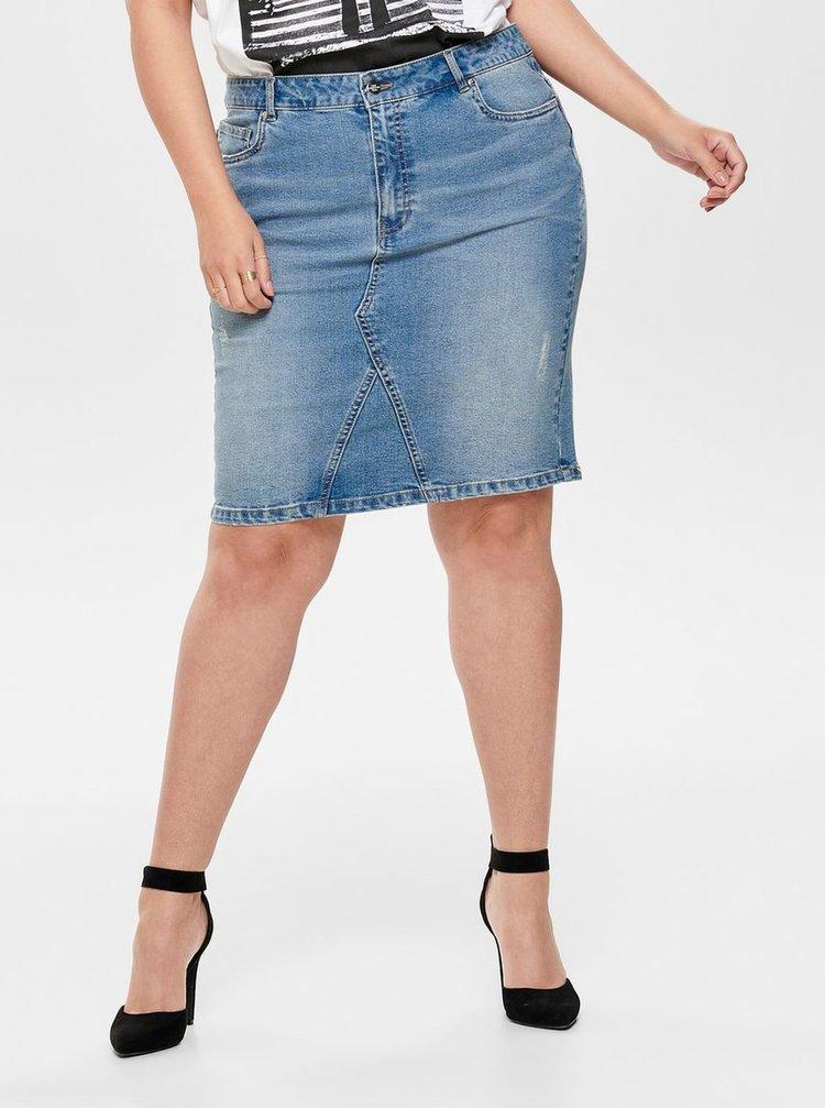 Modrá rifľová sukňa ONLY CARMAKOMA Fie