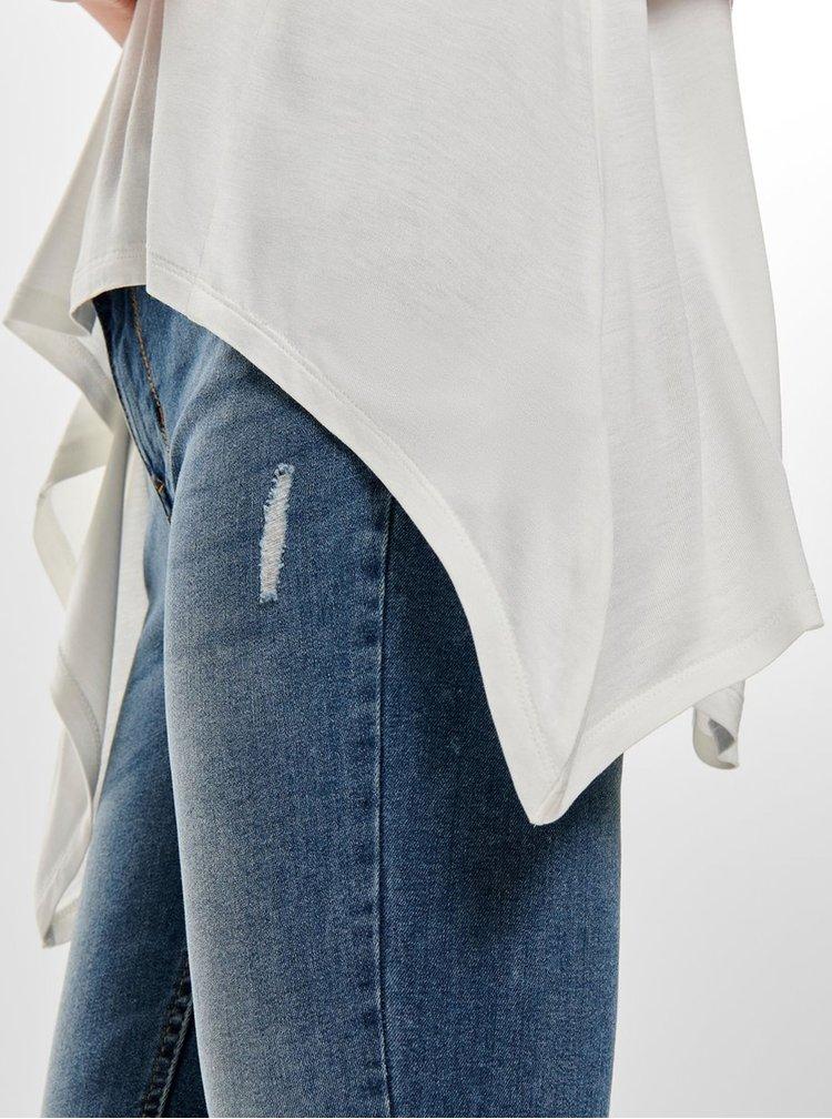 Bílý top s krajkou na zádech ONLY Flovely