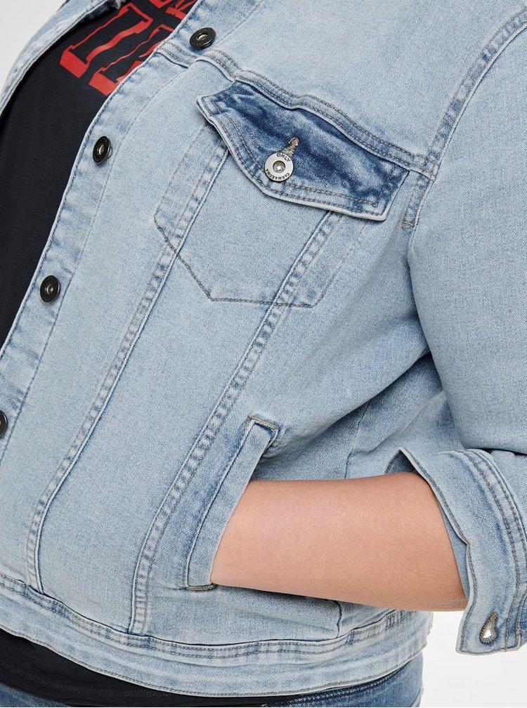 Modrá džínová bunda ONLY CARMAKOMA Lock