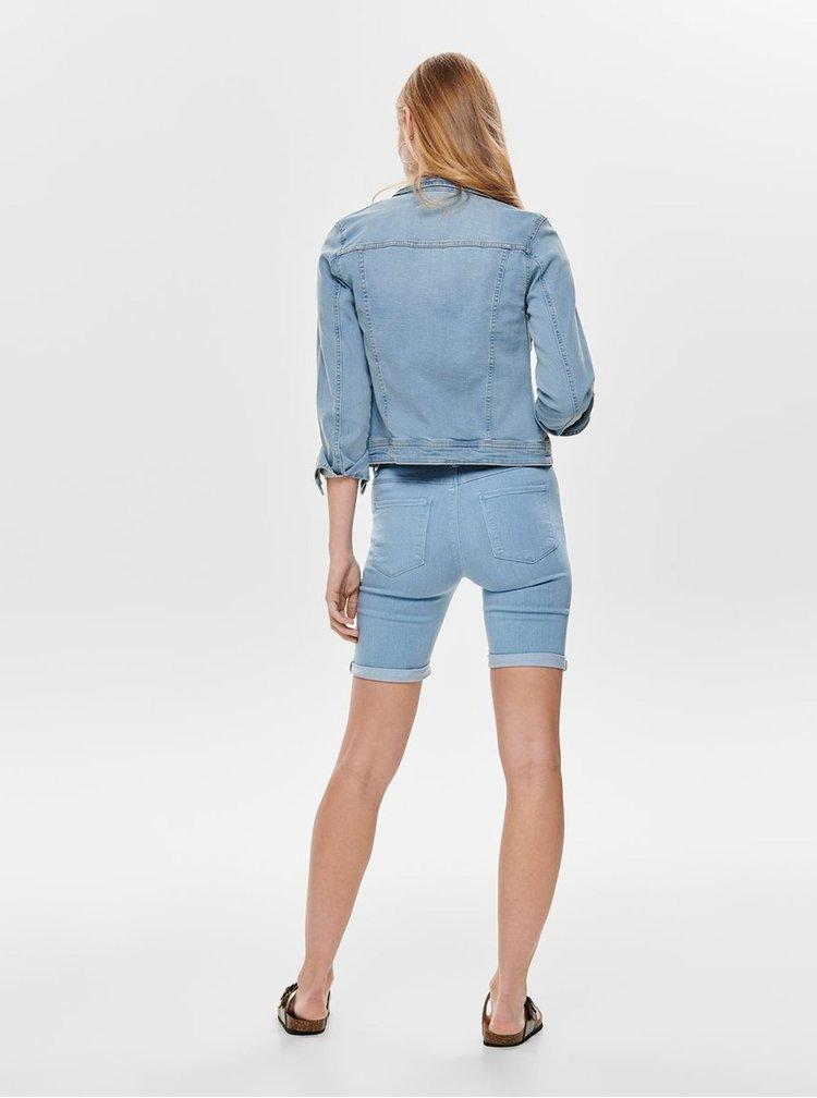 Jacheta albastru deschis din denim ONLY Tia