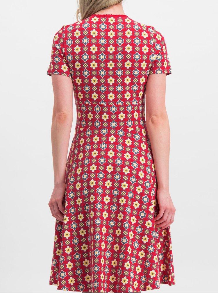Červené vzorované šaty Blutsgeschwister Polkamändel