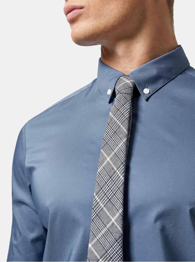Camasa albastra skinny fit Burton Menswear London