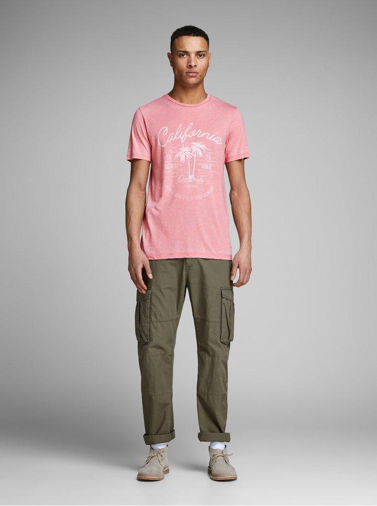 Tricouri pentru barbati Jack & Jones - roz
