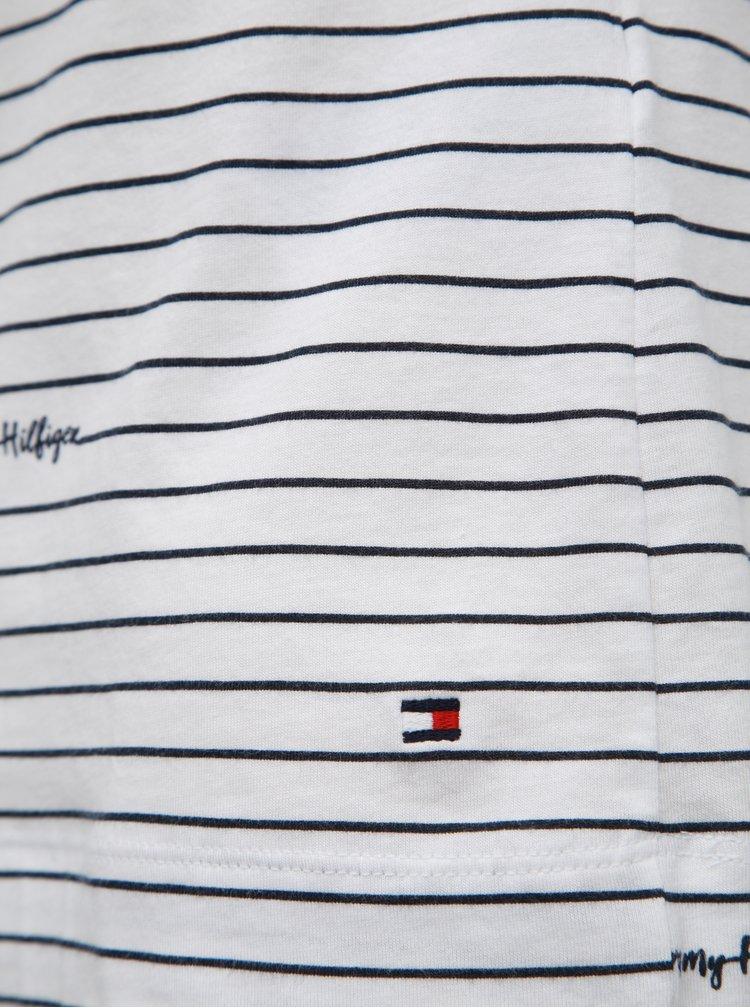 Bílé dámské pruhované tričko Tommy Hilfiger Elora