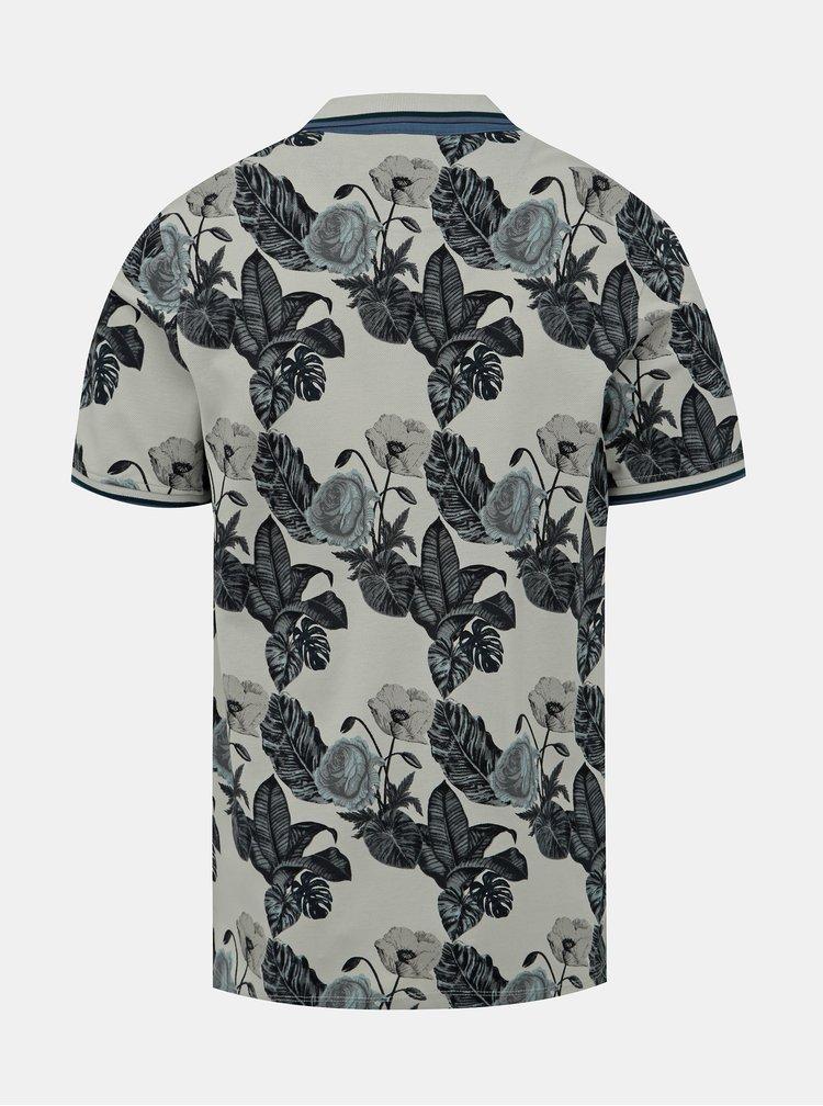 Světle zelené květované polo tričko Jack & Jones Palmer