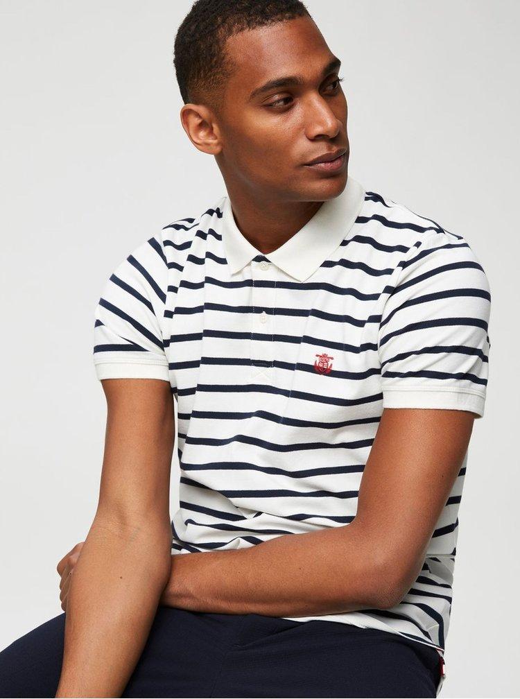 Modro-bílé pruhované polo tričko Selected Homme Haro