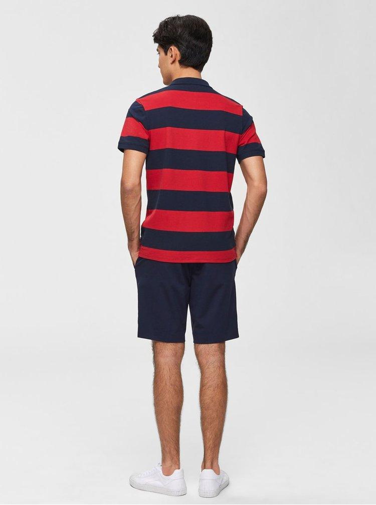 Modro–červená pruhovaná polokošeľa Selected Homme Haro