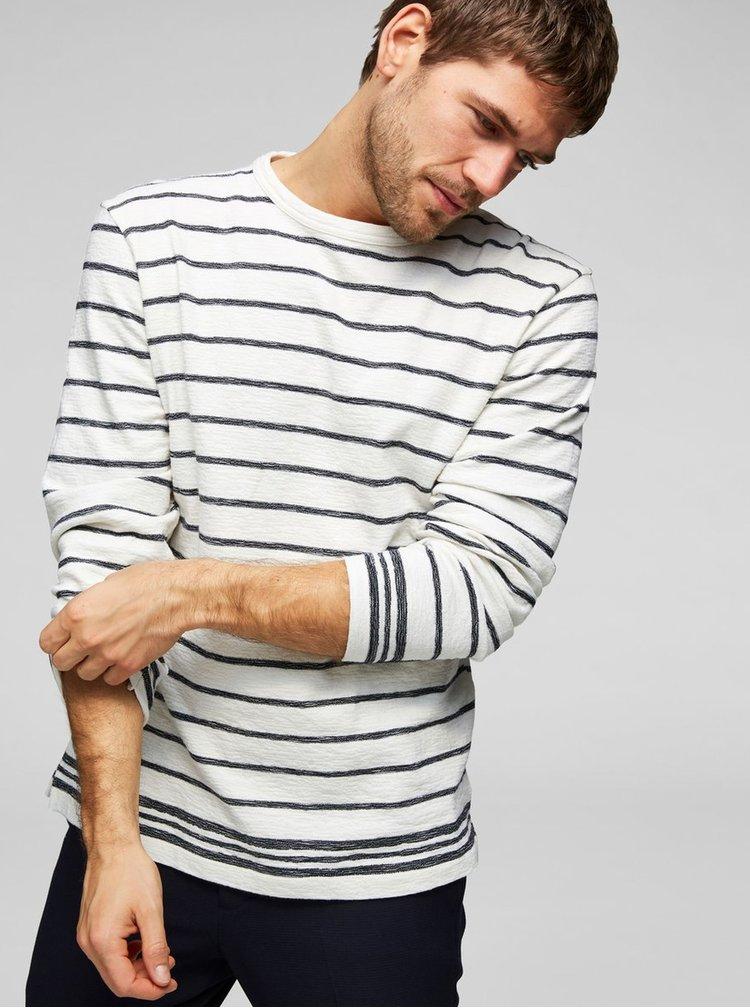 Krémový pruhovaný svetr Selected Homme Jack