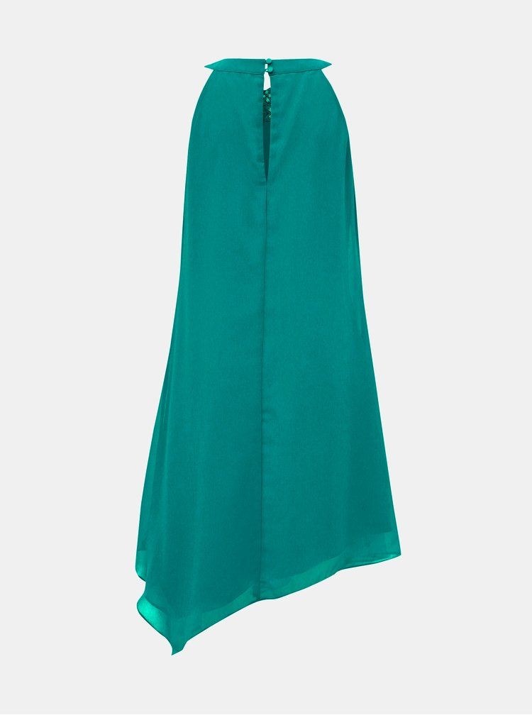 Tmavozelené asymetrické šaty Dorothy Perkins