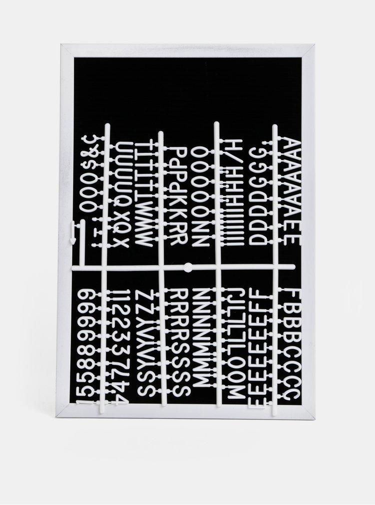 Čierno-biela tabuľa s písmenami SIFCON