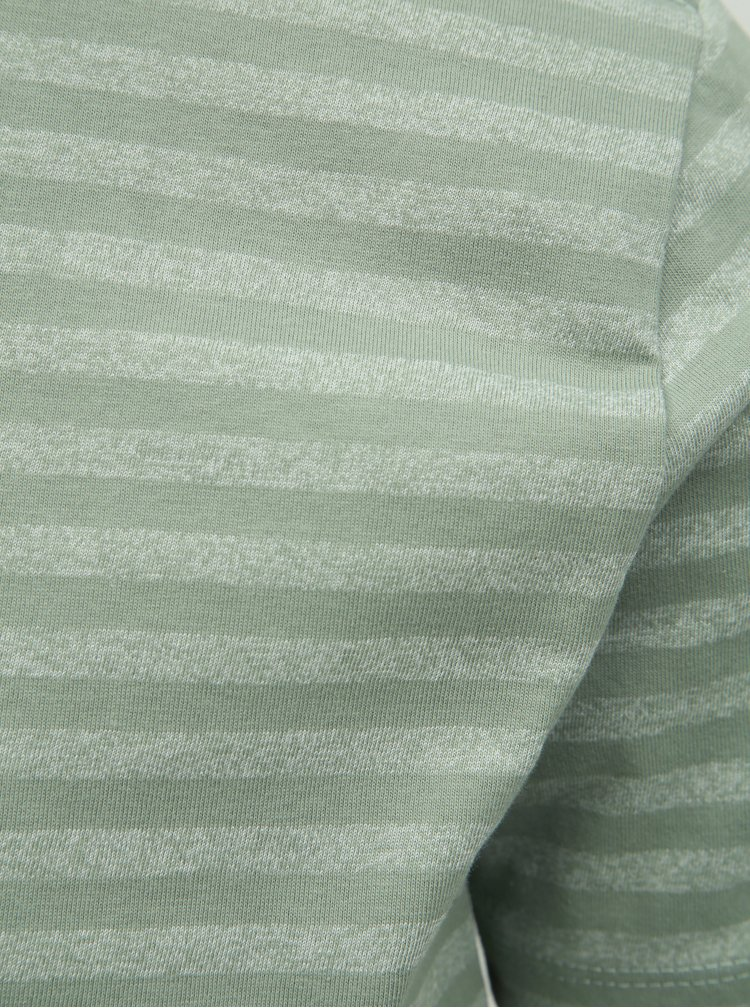 Tricou basic verde deschis in dungi Lindbergh