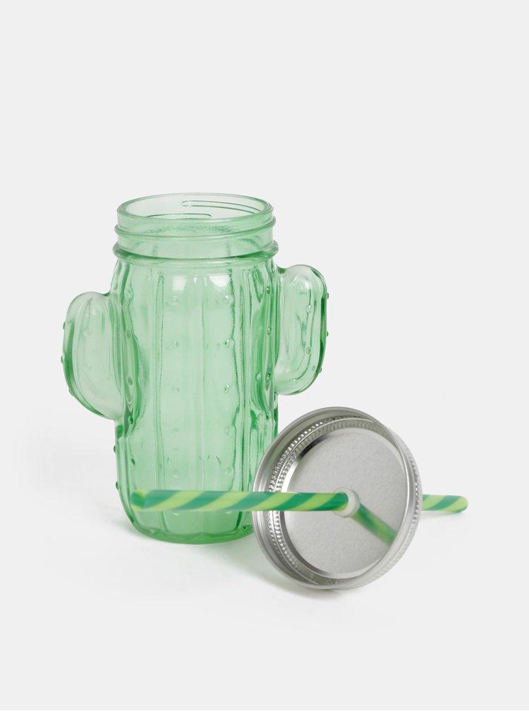 Zelená sklenice ve tvaru kaktusu SIFCON