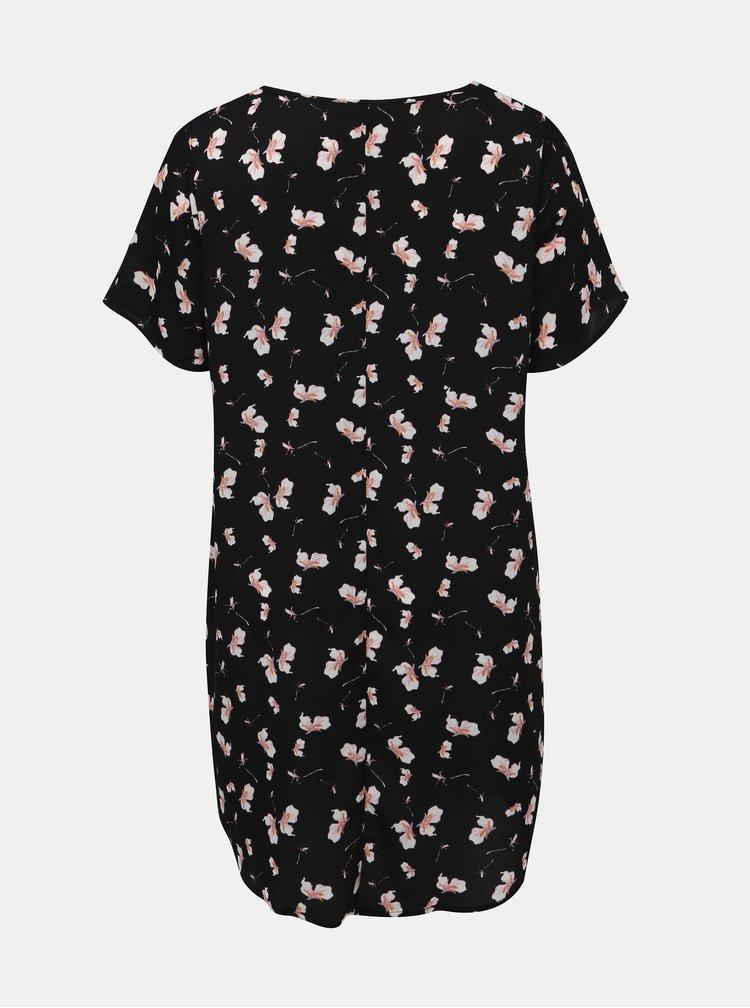Čierne kvetované šaty Zizzi Alba