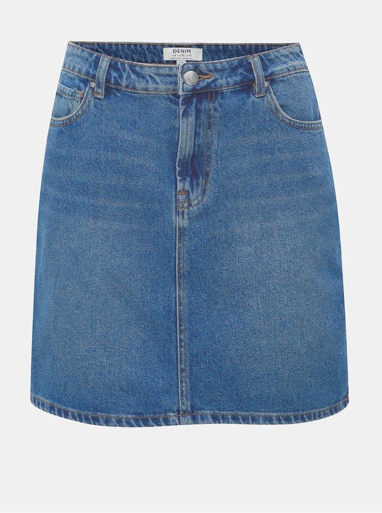 Fusta mini albastra din denim Dorothy Perkins
