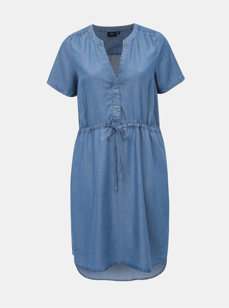 Modré rifľové šaty Zizzi Nova