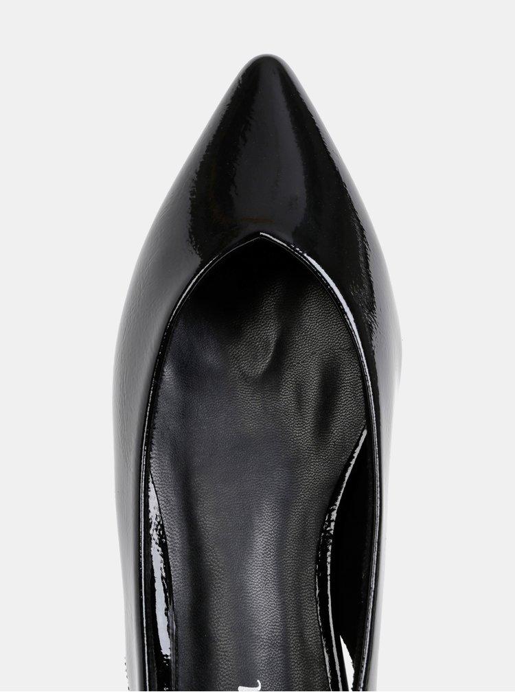 Čierne baleríny s otvorenou pätou s.Oliver