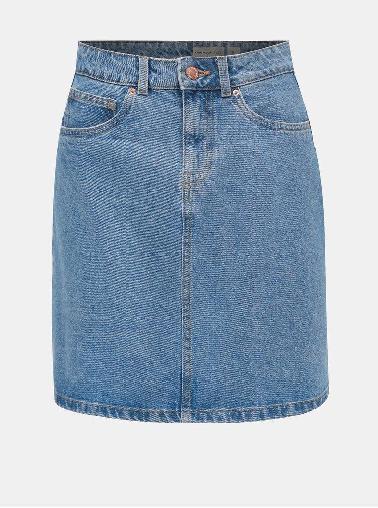 Modrá rifľová sukňa VERO MODA Kathy