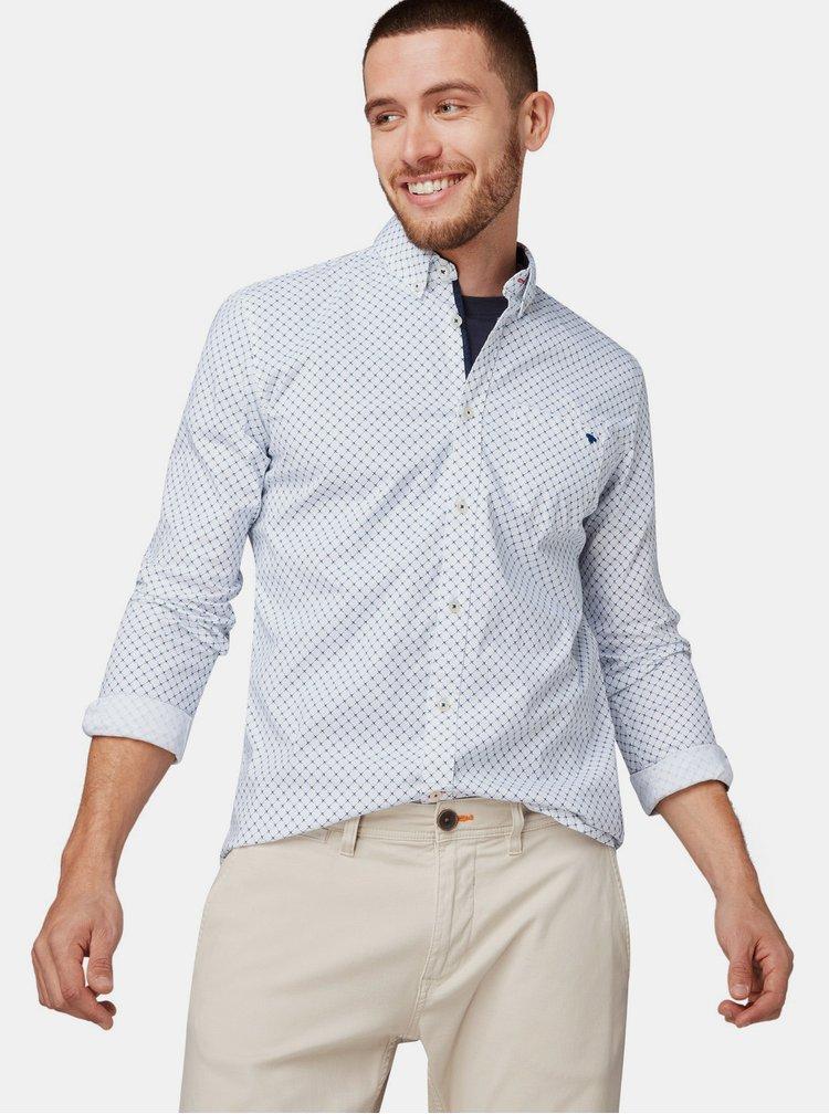 Bílá pánská vzorovaná košile Tom Tailor