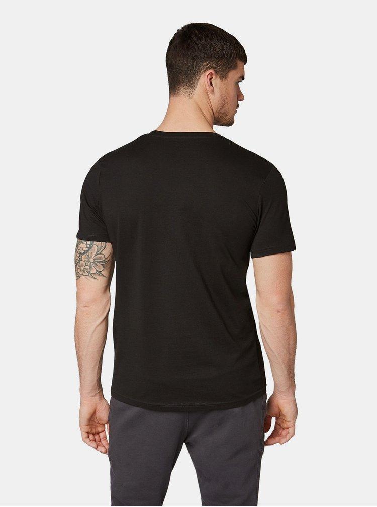 Sada dvoch čiernych pánskych basic tričiek Tom Tailor