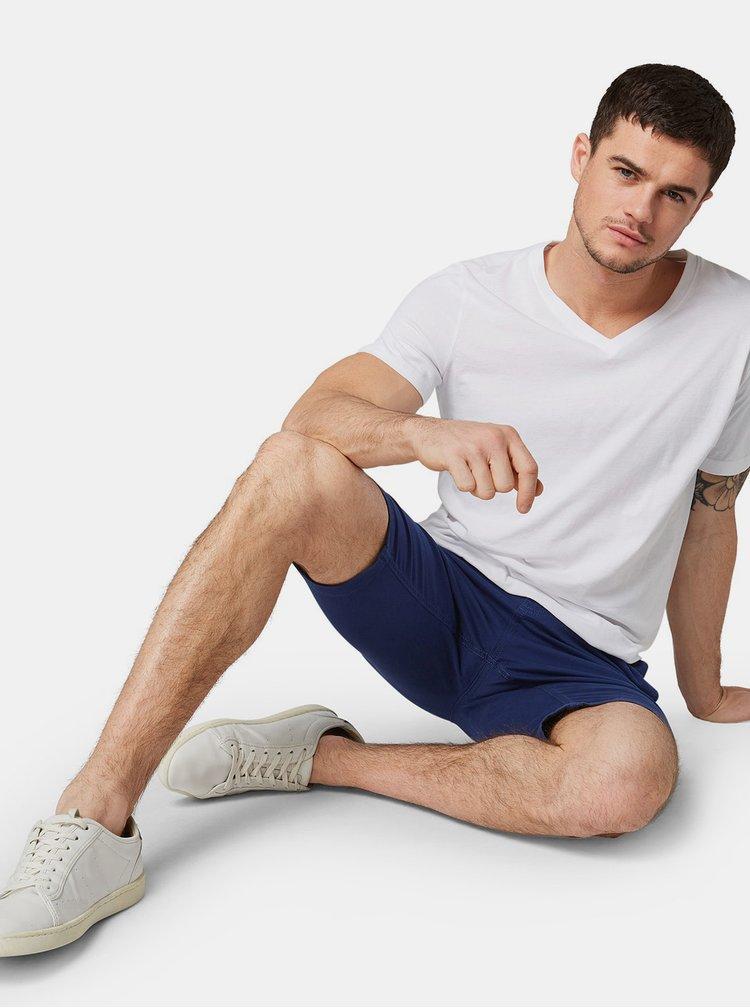 Sada dvou bílých pánských basic triček Tom Tailor