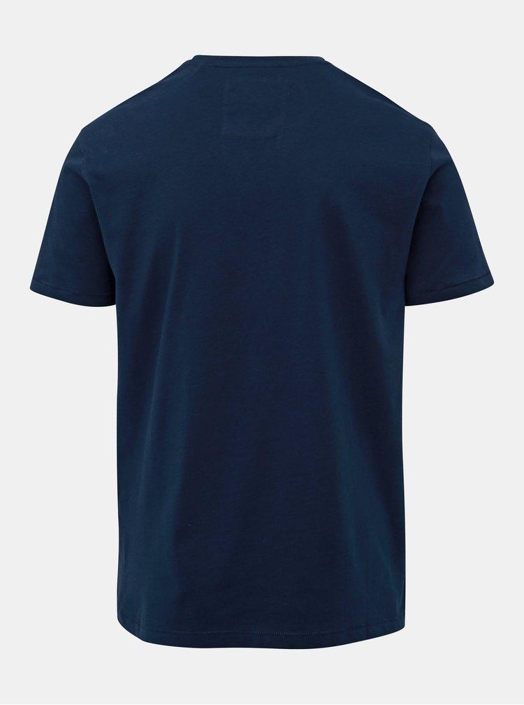Tmavě modré slim fit tričko s potiskem ONLY & SONS Lounge