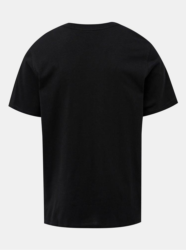 Čierne pánske tričko s výšivkou adidas Originals