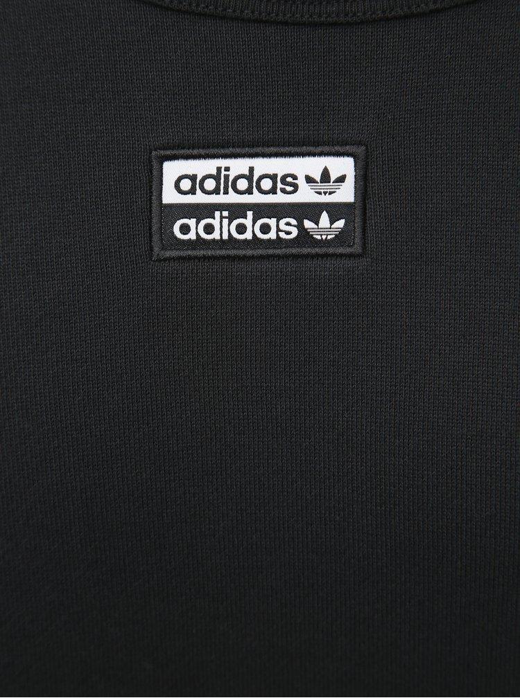 Černá pánská oversize mikina s nášivkou adidas Originals