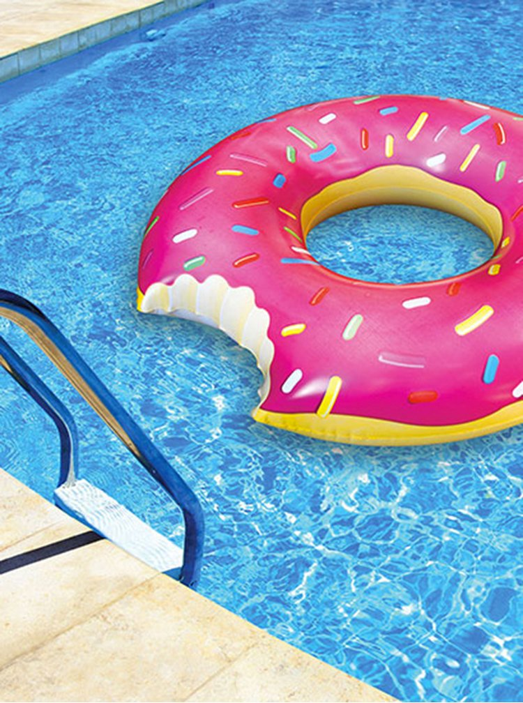 Růžový nafukovací kruh do vody ve tvaru donutu BigMouth Inc.