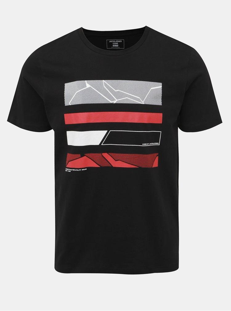 Čierne tričko s potlačou Jack & Jones Space