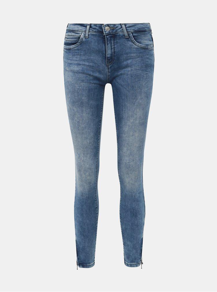 Modré zkrácené skinny fit džíny ONLY Kendell