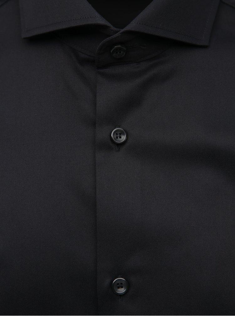 Čierna regular fit košeľa Jack & Jones Sel-Pelle