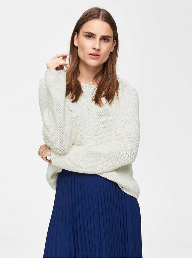 Biely sveter Selected Femme Olga