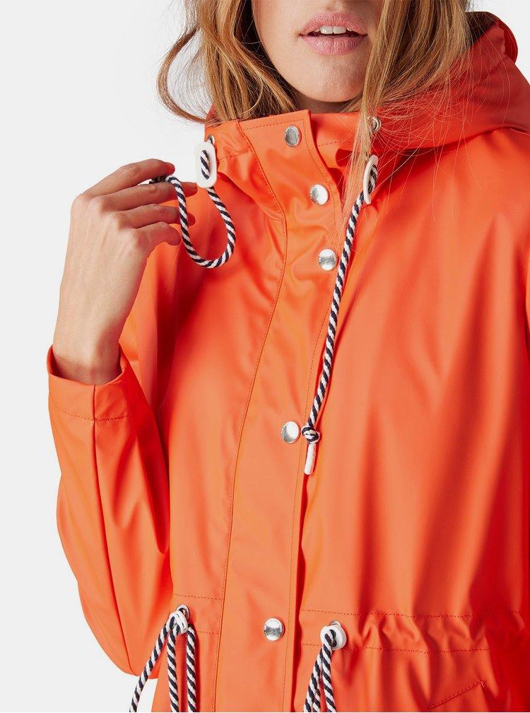 Oranžová dámská nepromokavá parka Tom Tailor Denim