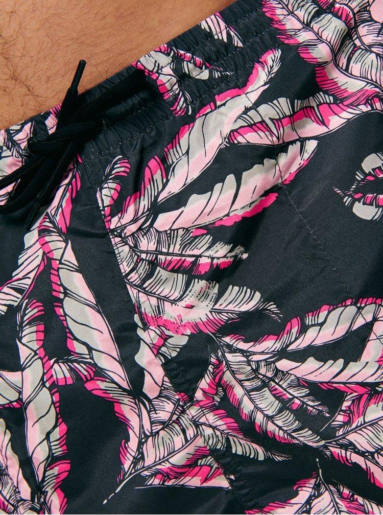 Černé vzorované plavky ONLY & SONS Tan