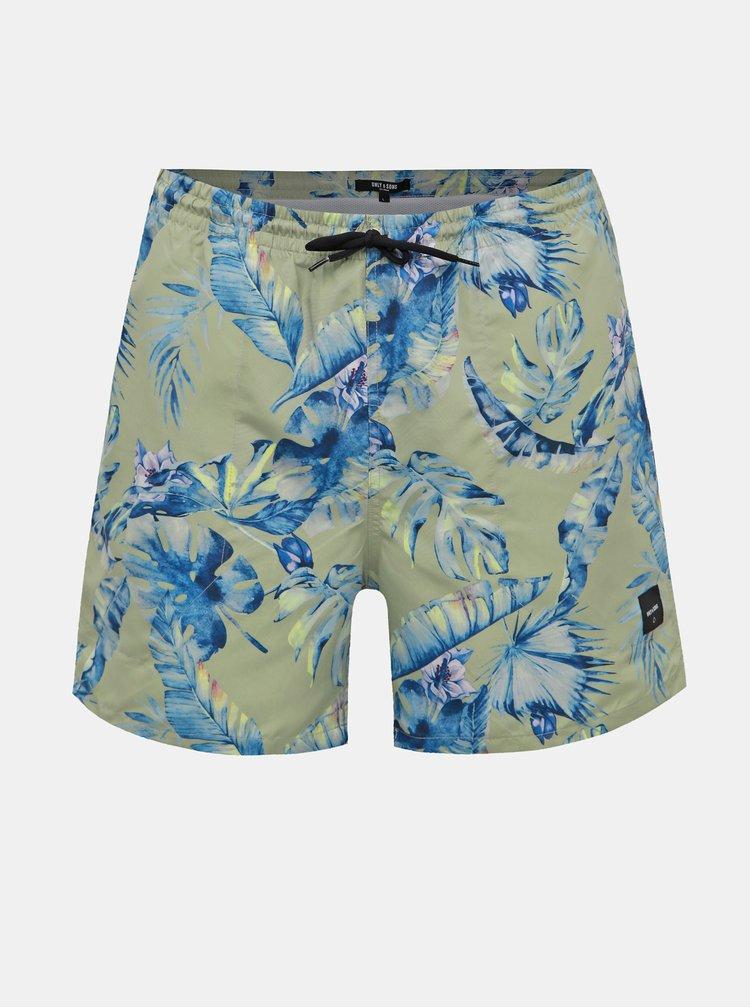 Svetlozelené kvetované plavky ONLY & SONS Tan