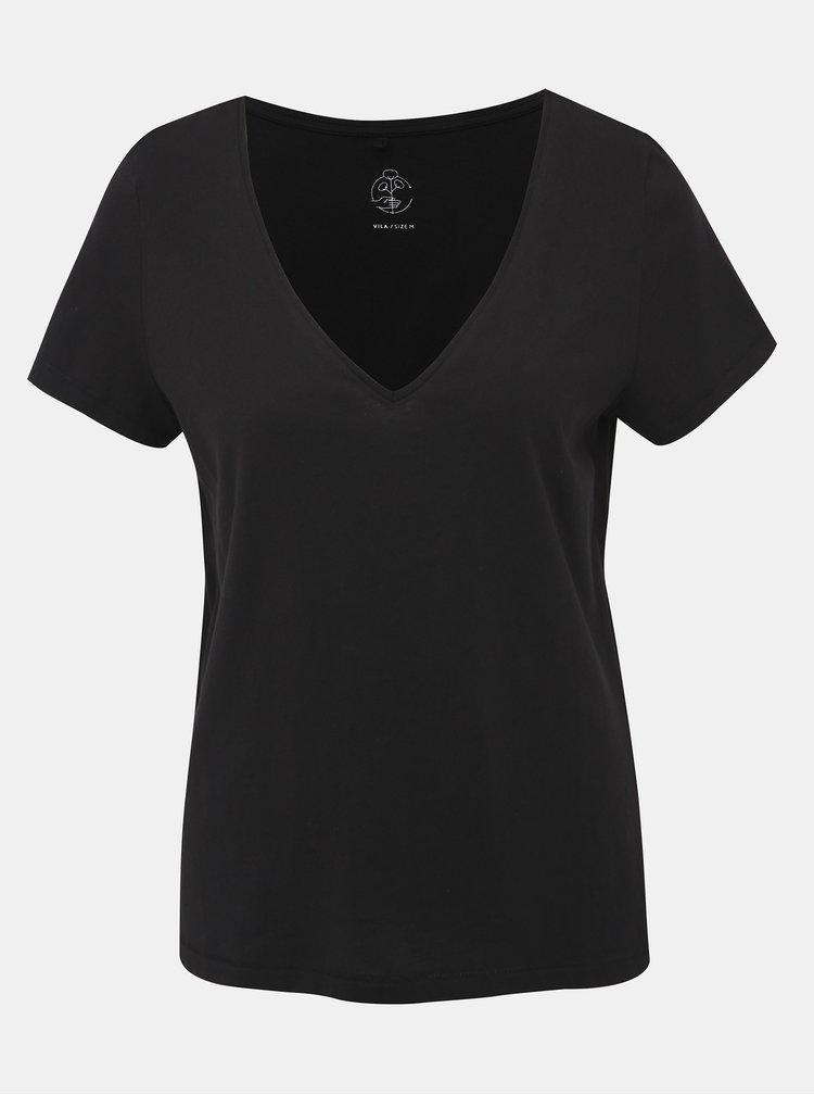 Černé basic tričko VILA Susette