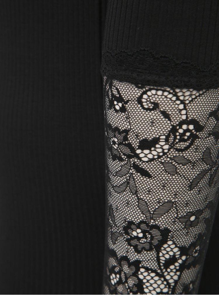 Černé tričko s krajkou VILA Sofi