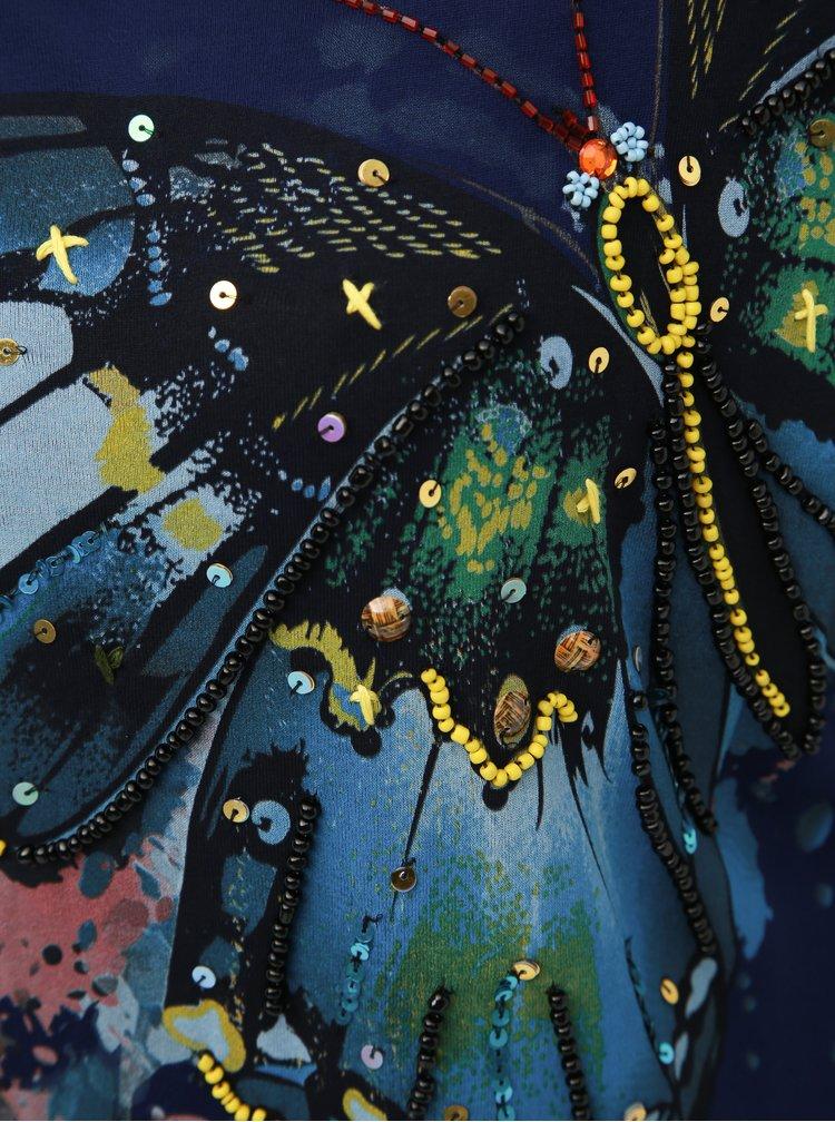 Tmavomodré šaty Desigual Butterfly