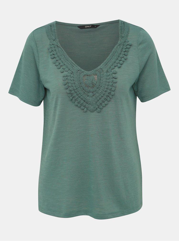 Zelené tričko ONLY Lisa