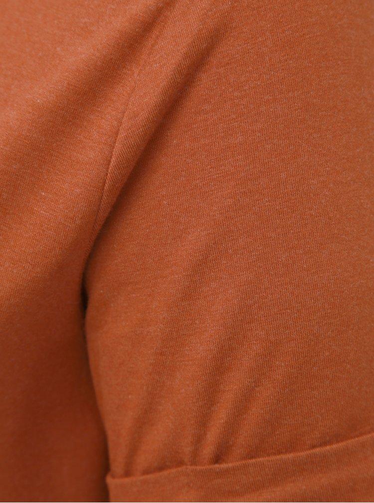 Hnědé basic tričko ONLY CARMAKOMA Carma
