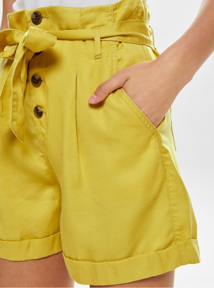 Žluté kraťasy s vysokým pasem ONLY Siri