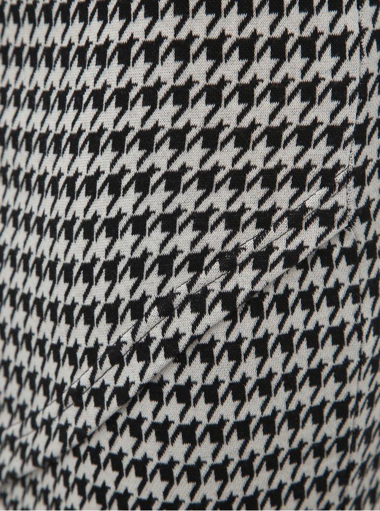 Šedá vzorovaná pouzdrová sukně ONLY Vigga